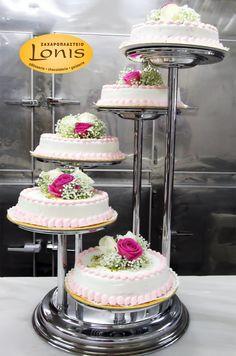 Πολυόροφη τούρτα γάμου #wedding #cakes Tiered Cakes, Desserts, Ideas, Food, Clothing Alterations, Tailgate Desserts, Deserts, Essen, Postres