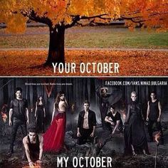 Yep thats what my October is going to be don't know about you
