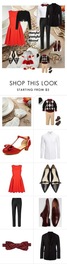 """thanksgiving"" by maitenara ❤ liked on Polyvore featuring Crate and Barrel, The Children's Place, Joseph, Claudie Pierlot, 3.1 Phillip Lim, Calvin Klein, Belvedere, Ben Sherman, Givenchy and Alaïa"