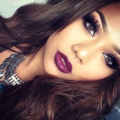 I would add a nude/pinkish color on the inner lip to create an ombre type of look. Yaaaas