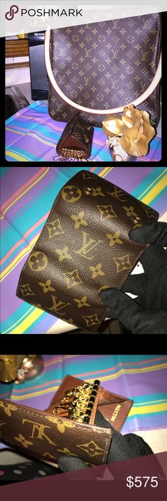 LOUIS VUITTON LOOPING GM SHOULDER+KEY HOLDER AUTH Pre owned near perfect condition. Key holder has stamp inside, looping gm shoulder bag has date code inside. Perfectly clean inside both items. Guaranteed authentic. Key holder retails around $250 alone looping shoulder bag retails for about $500 alone. Louis Vuitton Bags Shoulder Bags