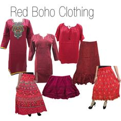 """""""Red Boho Clothing"""" by mogulinteriordesigns on Polyvore"""