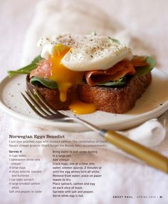 norwegian eggs benedict. I had this for brunch this weekend on challah bread and it was delicious