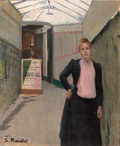 Santiago Rusiñol Le Grand bal (Madeleine de Boisguillaume), 1891. Palazzo dei Diamanti - Opere in mostra