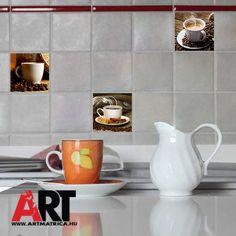 Csempe matrica konyhai dekoráció #csempematrica #konyha #konyhadekor #kávé #csempe