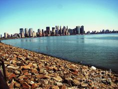 Taken from the Jersey City side looking across to Manhattan. Margaret Hamilton, Jersey City, Stunning View, San Francisco Skyline, Manhattan, New York Skyline, Nyc, Studio, Travel