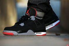 Air Jordan IV Bred #sneakers #nike #basket