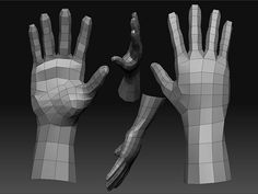 Low-Poly-Hand by williampointer05, via Flickr