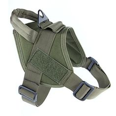 MEIKAI Tactical Service K9 Dog Harness Police Patrol Vest Training Molle Harness Vest Comfort Nylon L Ranger Green *** Details can be found by clicking on the image.