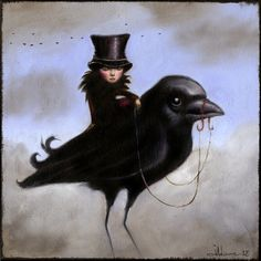 Juli Adams is a Seattle based artist specializing in oil painting and sculpture. Crow Art, Raven Art, Bird Art, The Crow, Art Fantaisiste, Jackdaw, Crows Ravens, Art Et Illustration, Salvador Dali