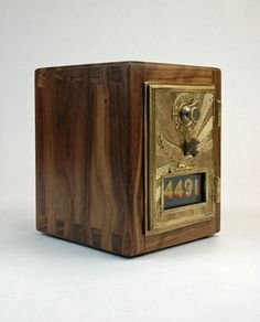Walnut Post Office Box Coin Bank 1906