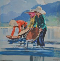 Ismail Mat Hussin (B. Southeast Asian Arts, Indian Paintings, Romanticism, Food Illustrations, Folk, Bag, Farm Art, Popular, Forks