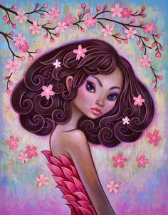 Flowers In Her Hair - Limited Edition Print
