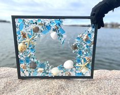 Sea Glass Mosaic, Sea Glass Beach, Sea Glass Art, Mosaic Art, Mosaics, Sea Glass Decor, Mosaic Crafts, Sea Glass Crafts, Seashell Crafts