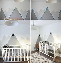 dessin-montagne-stylise-nuances-grises-murs-chambre-bebe