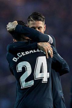 b0d062c6fc5 Daniel Ceballos of Real Madrid celebrates with Sergio Ramos of Real.