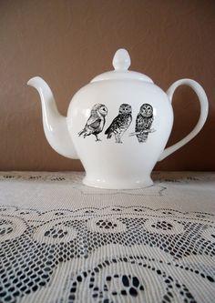 Night Owl Teapot by JessicaLennox on Etsy, $43.00