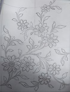 Handmade Embroidery Designs, Border Embroidery Designs, Bead Embroidery Patterns, Machine Embroidery Designs, Hand Embroidery Videos, Hand Work Embroidery, Hand Embroidery Stitches, Embroidery Fabric, Rose Stencil