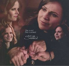 Awesome Regina and Zelena (Lana and Rebecca (Bex)) Once S4 awesome #WickedSisters