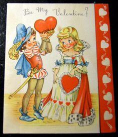Gorgeous Vintage Greetings Card Be My Queen by vicsvintageephemera, £4.99