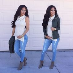 Casual comfy outfit  Top & booties: Maternity