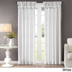Madison Park 'Natalie' Twisted Tab Curtain Panel---I like the twist look & I could totally do that with curtains that I already have...