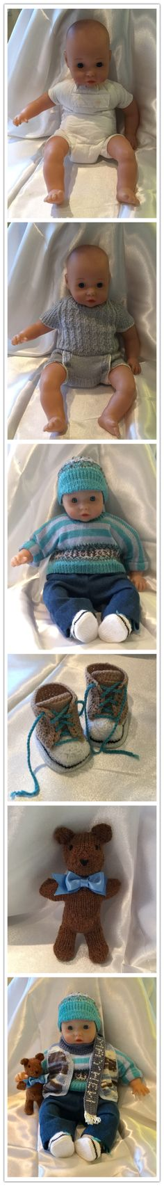 CAROL CHARNOCK CREATION- Second-hand doll, dressed for a charity raffle at the Mayhew Animal Home - he is called Baby Martin