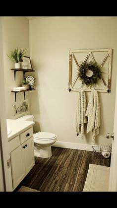 45 Rustic Farmhouse Touch Bathroom Remodel On a Budget . - 45 Rustic Farmhouse Touch Bathroom Remodel On a Budget - Décor Boho, Country Farmhouse Decor, Modern Farmhouse, Farmhouse Style, Farmhouse Remodel, Cottage Farmhouse, Country Style Homes, Small Bathroom, Bathroom Ideas