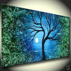 NO1 Modern Abstract Landscape Oil Painting Beautiful Tree Art! New ...