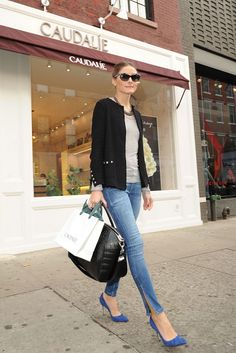 casual; jeans, tee, heels Olivia Palermo (July 2012 - April 2013) - Page 36 - the Fashion Spot