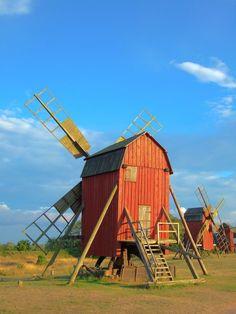 Öland Schweden Windmühlen by proude