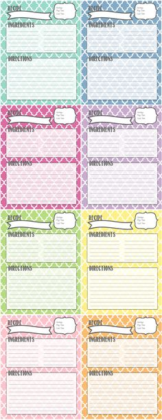 Recipe Binder Printables by Melanie Gets Married: organize your recipes with these pretty recipe pages!