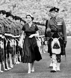 More than 60,000 people gathered at Hampden Park in Glasgow on June 25, 1953, for one of the biggest events of the Coronation tour of Scotland. Just weeks after Elizabeth was crowned Queen on June 2, 1953.