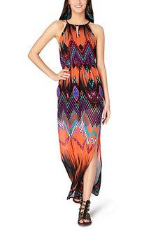 image of Tribal Maxi Halter Dress Tribal Maxi, Girl Fashion, Fashion Dresses, Dress Skirt, Maxi Skirts, Maxi Dresses, Simple Dresses, Dress Me Up, Girls Dresses