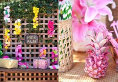 tropical, tiki-themed party ideas #celebrate