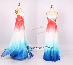 Attractive New Design Gradient Color Long Prom Dresses/Evening Dress/Party Dress/Formal Dress/A-Line Long Dress 001