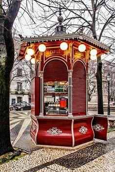 "Kiosk Quiosque do Refresco"", Lisbon, Portugal (by Tozé Fonseca) Sintra Portugal, Visit Portugal, Portugal Travel, Spain And Portugal, Algarve, Kiosk Store, Iberian Peninsula, Destination Voyage, Azores"