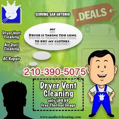 Clean Dryer Vent, Vent Cleaning, Daily Deals, San Antonio, Facebook