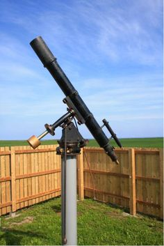 """The Alcock 4"""" f/12.5 triplet refractor on an old Cooke equatorial mount."""