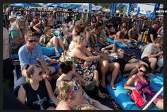 Miller Lite at Bonnaroo At the New Music on Tap Lounge, viewers relaxed on bright blue branded floor cushions as they drank Miller Lites and watched special performances on the stage.