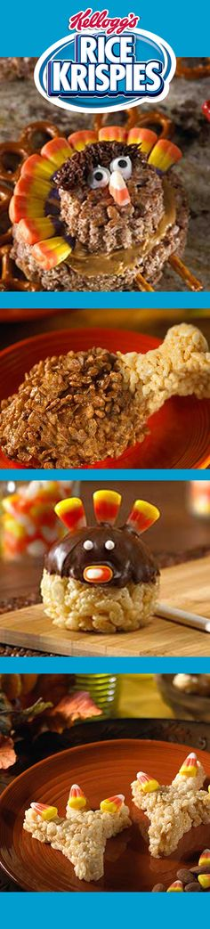 Tons of too-cute Turkeys. See all our Thanksgiving recipes: http://www.ricekrispies.com/search/thanksgiving
