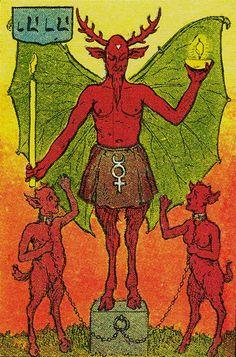 The Devil - Knapp-Hall Tarot by J. A. Knapp