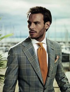 The splash of the jacket allows for simple, elegance in the accompanying pieces (shirt, tie, slacks or jeans).