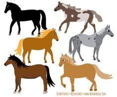 Horse Clip Art  Quirky Horses Clip Art  Horse Breeds by wonderdigi, $5.00