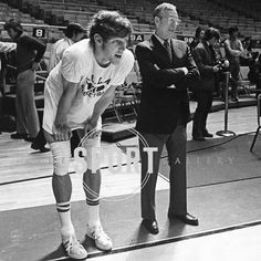 Happy birthday to #BillWalton a 2x #NCAA and #NBA champion and sportscaster. Walton played under legend #JohnWooden at #UCLA with whom he is pictured. If you are ever in need of cheering up listen to Walton cover a game. He is quite the character.  #basketball #hoops #sports #sportshistory #vintage #history #art #prints #fineartphotography