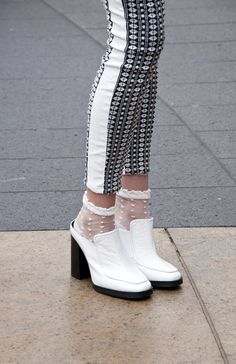 style   Sammy Riley wearing shoes by @Topshop and jeans by 7 For All Mankind at NYFW / FW15 / MBFW