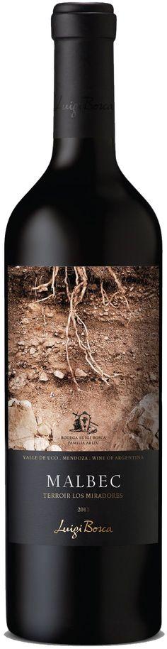 """""""Luigi Bosca MalbecTerroir Los Miradores"""" 2011 / 2013 - Bodega Luigi Bosca, Luján de Cuyo, Mendoza--------------------------------- Terroir: Villa Seca (Tunuyán)------ Crianza: 30% del vino en barricas de roble francés nuevas durante 12 meses."""