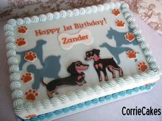 1st b-day doggies - Cake by Corrie
