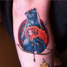 Awesome Brave tattoo by @kayannette! #disney #disneyland #disneyworld #disneyinkfiends #merida #meridatattoo #brave #bravetattoo