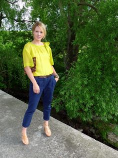 silky blouse (how silky? how silky?) bright britches